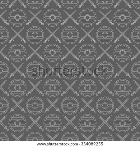 seamless viking pattern number