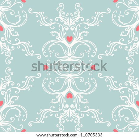Seamless vintage background  baroque pattern
