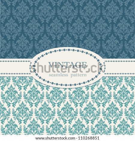 Seamless vintage background. Vector background for textile design. Wallpaper, background, repeating pattern