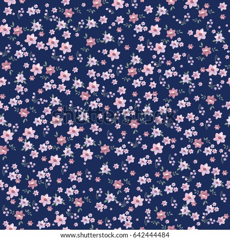 Seamless vintage floral pattern for gift wrap and fabric design