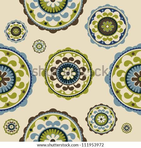 Seamless vintage floral pattern, vector