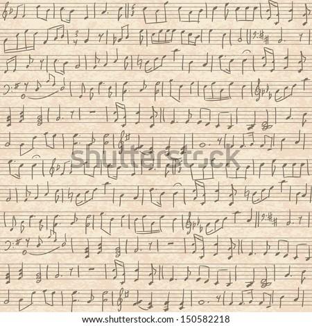 Handwritten Music Handwritten Musical Notes