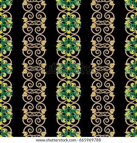 seamless vintage pattern in