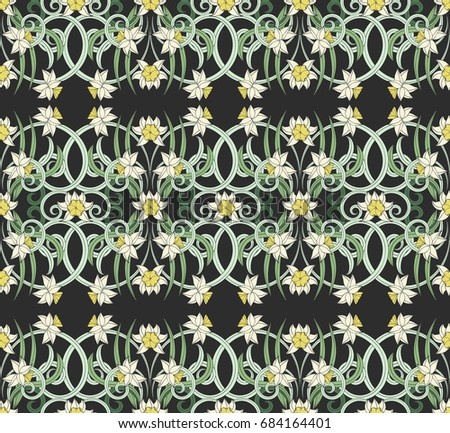 seamless vintage pattern in
