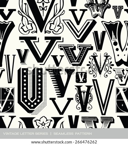 seamless vintage pattern of the