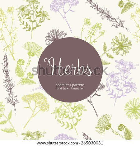 seamless vintage pattern with
