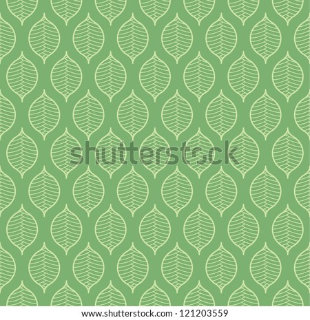 Seamless vintage plant pattern - stock vector