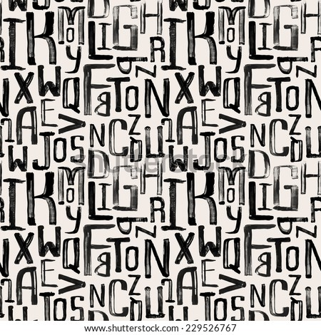 stock-vector-seamless-vintage-style-pattern-uneven-grunge-letters-of-random-size-wrapping-paper-pattern