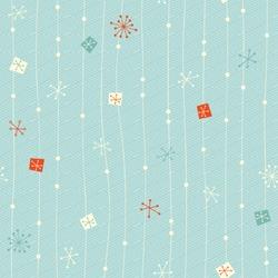 seamless vintage winter pattern