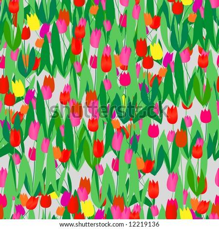 seamless vivid tulip pattern