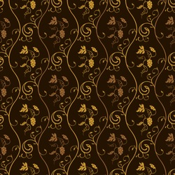 Seamless wallpaper background grapes decor vintage brown vector