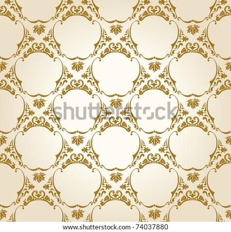 Seamless wallpaper background vintage gold vector