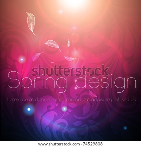 Seamless Wallpaper Background with sun shine, glow sparks and stars. Colorful spring design. eps 10.