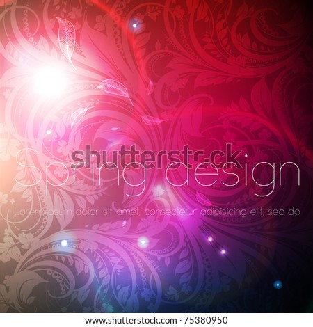 Seamless wallpaper Background with sun shine, glow sparks and stars. Colorful spring or summer design. Free place for text, eps 10.