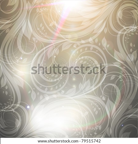 Seamless Wallpaper Background with sun shine, glow sparks and stars. Colorful summer design. eps 10.