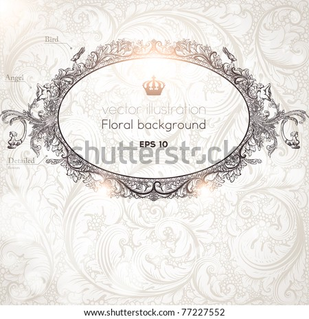 Vintage Frame On Wallpaper Background Téléchargez De Lart Des