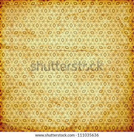 Seamless Wallpaper, Detailed Vector Background with engraving flowers