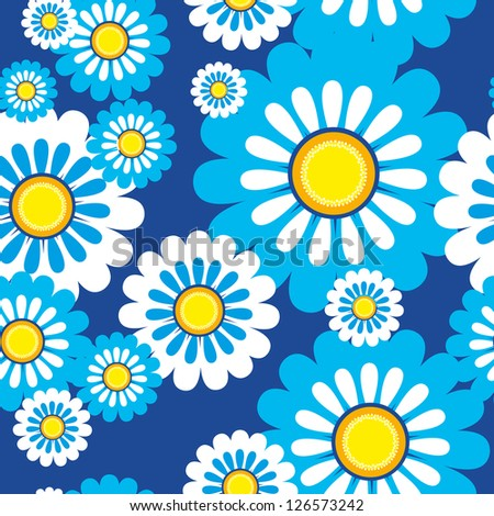 seamless wallpaper for holiday packages featuring flowers - stock vector