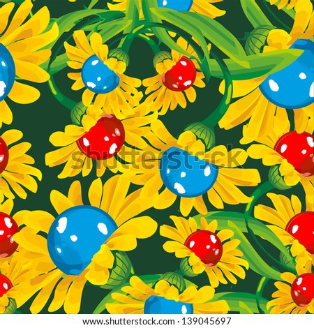 seamless wallpaper for holiday packages featuring flowers