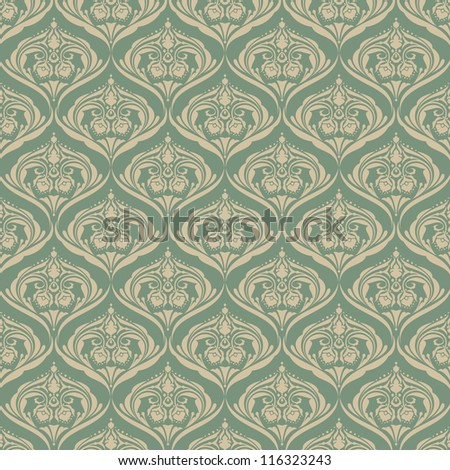 Seamless wallpaper pattern background. Vector - stock vector
