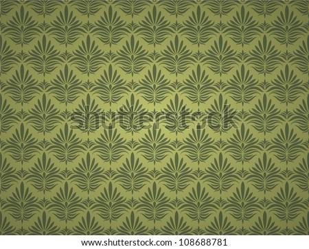 Seamless wallpaper pattern, green