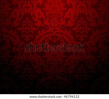 Seamless wallpaper pattern, red