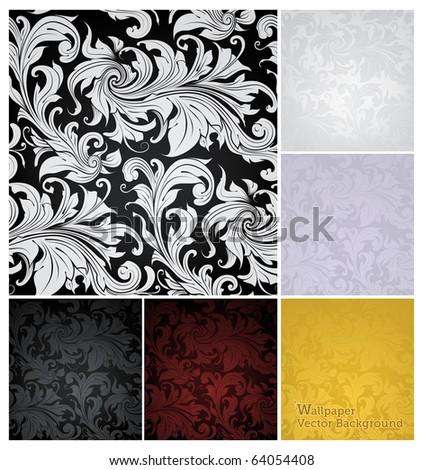 seamless wallpaper pattern  set