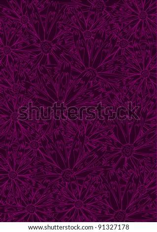 Seamless wallpaper pattern, vector