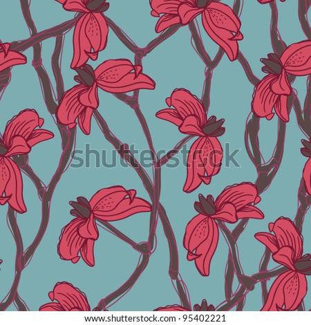 Seamless wallpaper pattern - vector