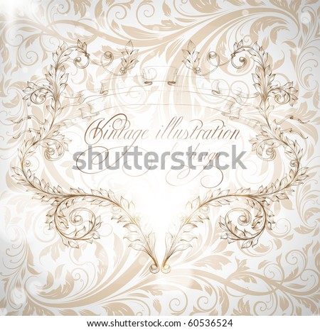Seamless wallpaper pattern with frame, white