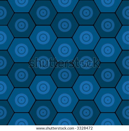 Seamless Wallpaper Tile Pattern, Honeycomb, Hexagon And Spiral