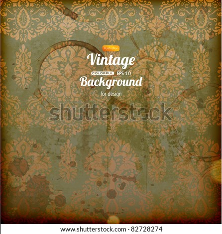 Seamless wallpaper, vector vintage background