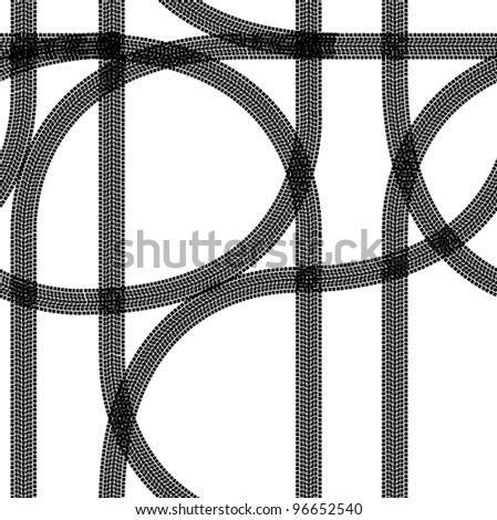 Seamless wallpaper winter tire tracks pattern illustration vector background