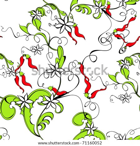 Seamless wallpaper with decorative floral element