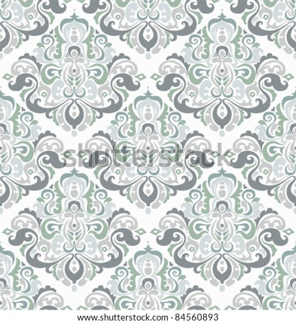 seamless wallpaper with floral retro ornament