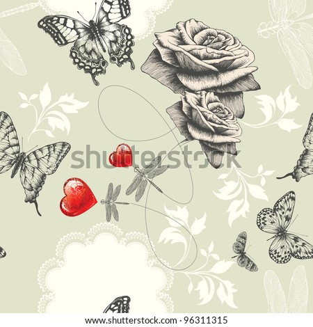 seamless wallpaper with roses