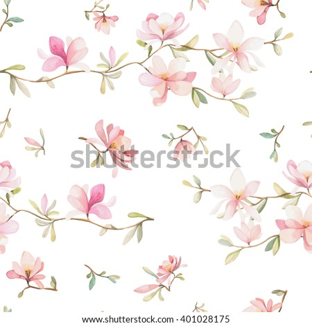 seamless watercolor floral