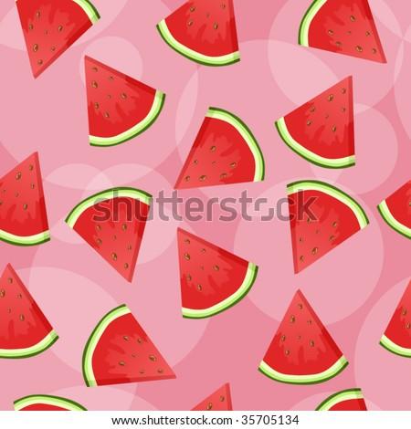 Seamless watermelon background