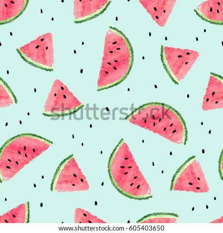 seamless watermelon pattern