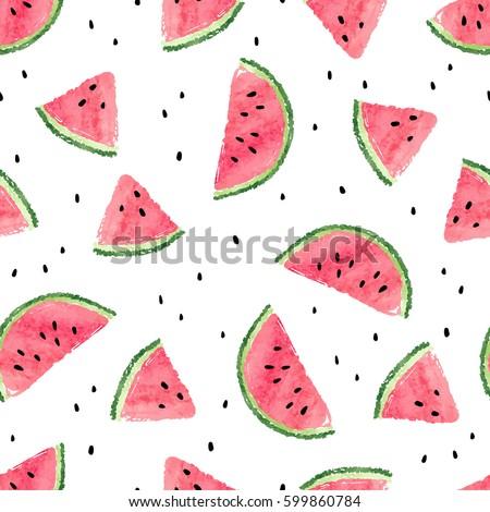 seamless watermelons pattern