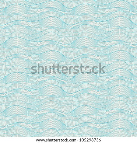 Seamless wave hand-drawn pattern, waves background (seamlessly tiling).Can be used for wallpaper, pattern fills, web page background,surface textures. Gorgeous seamless wave background
