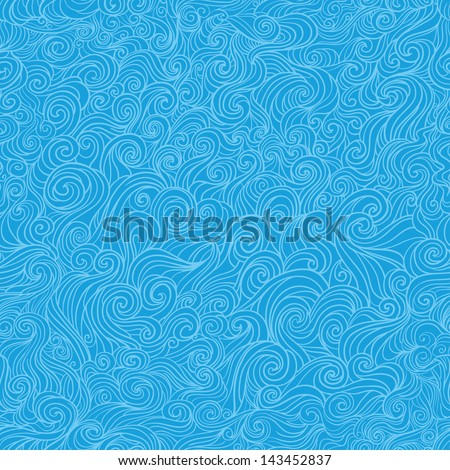 seamless wavy background curly