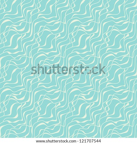 Seamless wavy pattern. Vector stylized texture of abstract ripples