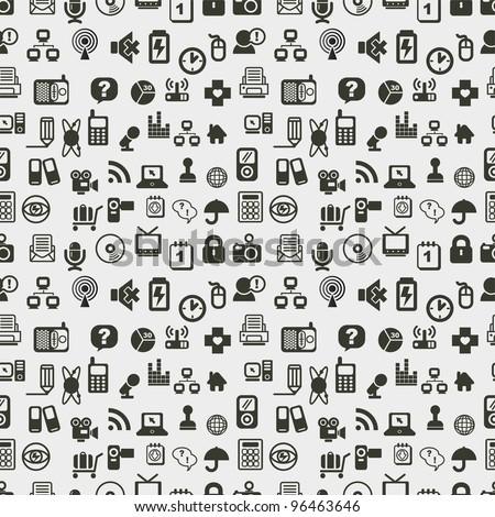 Seamless web icons pattern. Vector illustration.