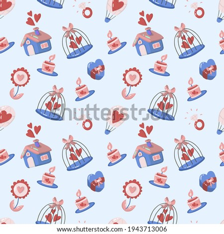 Seamless wedding Pattern Vector for banner, poster, flyer