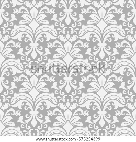 seamless white and grey floral