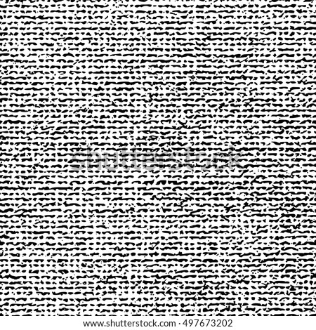 Seamless white canvas fabric background. Endless textile vector pattern. The high resolution blank texture.