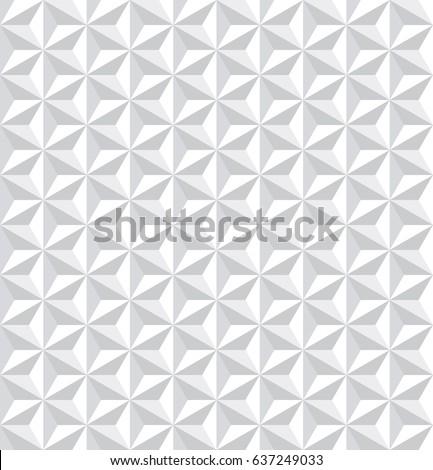 Seamless white 3d pattern. Geometric texture. Vector art.