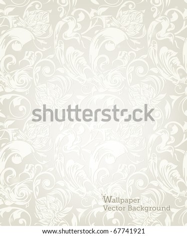 Seamless White Floral Pattern, eps10