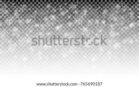 seamless white snow fall